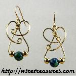 Dainty Malachite & Azurite Bead Earrings II
