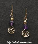 Stone & GF Bead Swirled Earrings