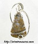 Magnificent Moss Agate pendant wrapped in Sterling Silver wire!